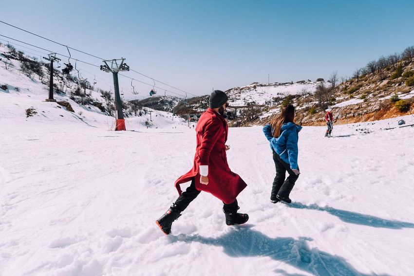 Snow Sports into hermon mountain Snow Winter Full Length Leisure Activity Cold Temperature Lifestyles Real People Sunlight Shadow Outdoors Ski Holiday Day Sky Winter Sport Nature Tree Clear Sky Ski Lift Togetherness Young Adult People Backgrounds Sports Handmade For You