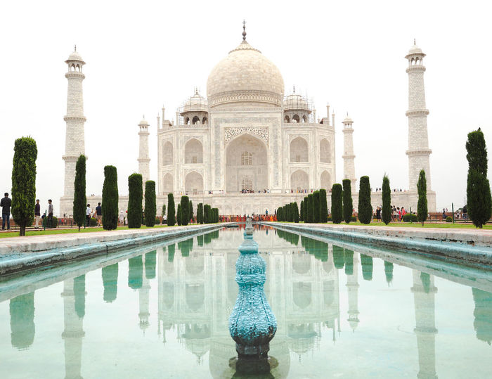 Couple India World Heritage Architecture Building Exterior Built Structure Dome History Nature Reflection Travel Travel Destinations Water