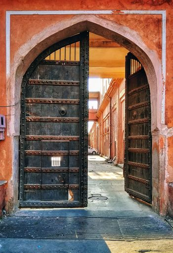 Architecture Built Structure Door No People Wood - Material Arch Window Day Indoors  Building Exterior Jaipur Rajasthan Historical Building Historical Place