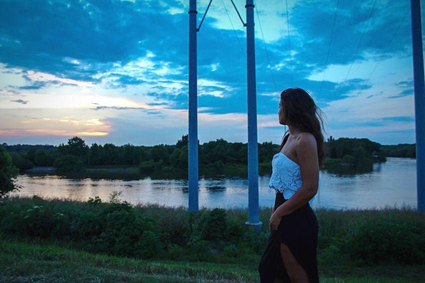 Riverside Louisiana Cool Tones Sunset