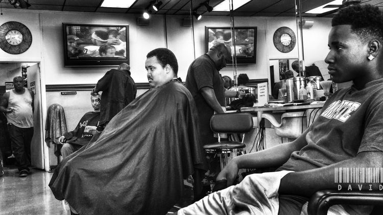 Made it in. Gotta get this TWA off my head. Haircut Barber Shop Black And White Monochrome