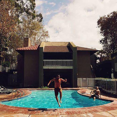 Splash. Pool Pooltime Dive Montebello La Summertime Fun Adventure Outdoors