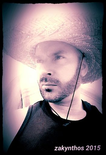 JustMe Filtered Image Zante 2015 Zakynthos,Greece Chilling Beard Beardlife Seriousface Hat Day Sun Hat Selfie ✌ Self Portrait Selfies