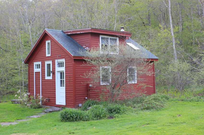 Little red house. Built Structure Exterior Grass House No People Outdoors Residential Structure Roof Window