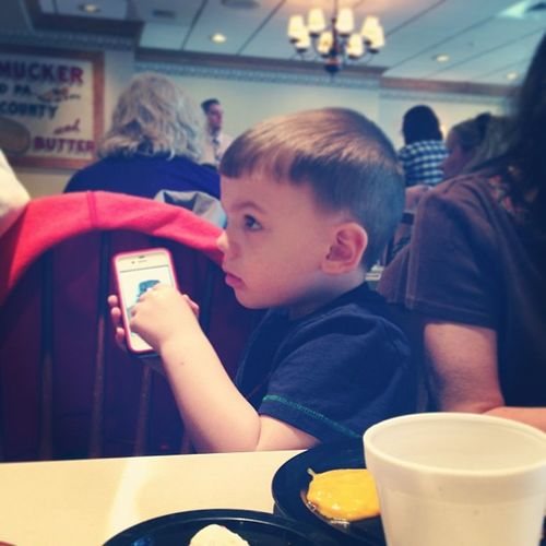 He already likes looking at pictures of himself Nephew  Wyatt Three Family