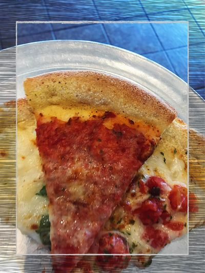 Grab A Slice! 🍕 Pizza Slice Of Pizza Cheese Pizza White Pizza Food And Drink Food Indoors  Close-up Ready-to-eat No People Day SLICE Pie Pizza Sauce Pizza Pie Fun Food Junk Food Unhealthy Eating Unhealthy Food Edited Border