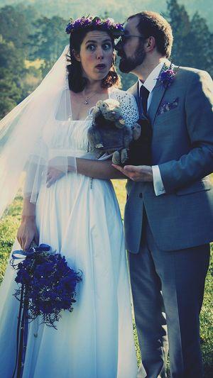 Suprise!!! Wedding Wedding Dress Bridegroom Love Outdoors Wedding Ceremony Funny Faces