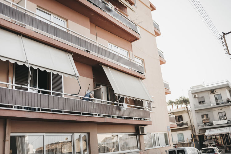 Apartment Architecture Balcony Building Building Exterior Built Structure City Clear Sky Communication Connection Day Low Angle View Nature No People Outdoors Railing Residential District Sky Window
