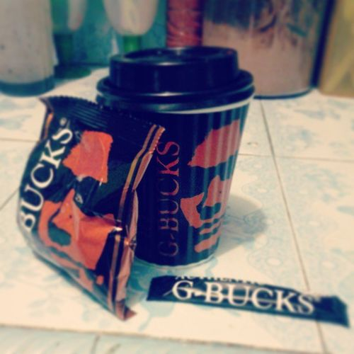 My g G-Bucks cappuccino for this morning... Coffeemornig Gbuckscoffee Gbucks Cappuccino