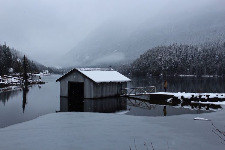 Grey winter days. Winter Snow Cold Temperature Nature Weather Beauty In Nature Tranquil Scene Outdoors Water Mountain Lake PNW Frozen Miles Away Shades Of Winter