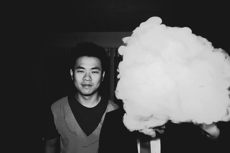 Halloween Portraits Smoke Blackandwhite Day Friend Front View Happiness Indoors  Leisure Activity Lifestyles Looking At Camera One Person People Portrait Portrait Of A Friend Real People Vape Vapeporn Young Adult Young Men