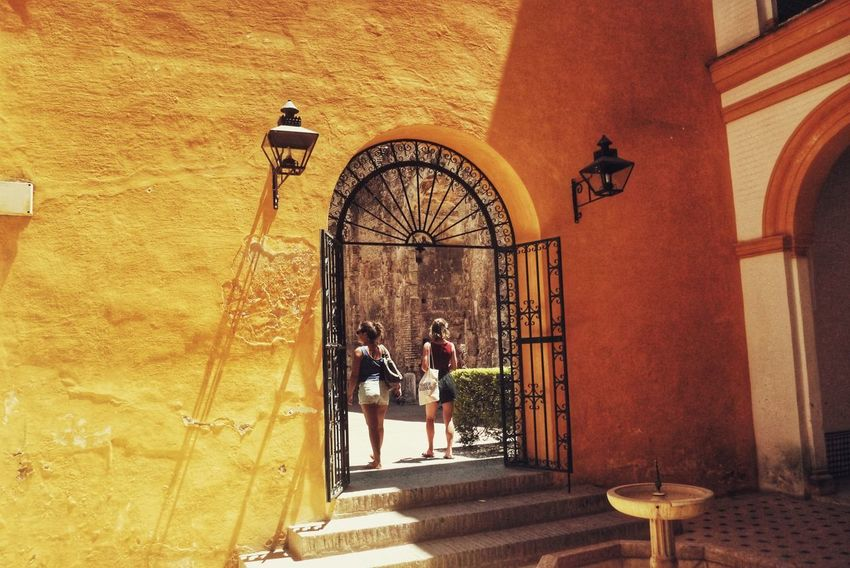 Yellow SPAIN Sevilla Summer Holiday Men Architecture Built Structure Building Exterior Archway Entry Historic Entryway Summer Exploratorium Adventures In The City