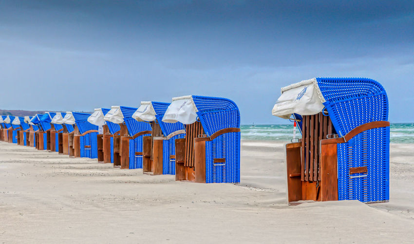 Hooded Chairs At Beach