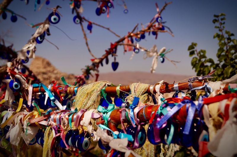 Travel Destinations EyeEmNewHere Hanging Decoration Day Sky No People Focus On Foreground Close-up Multi Colored Large Group Of Objects Outdoors Abundance Moments Of Happiness