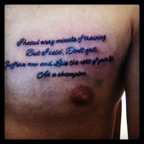 Tattoo Quotes Chest