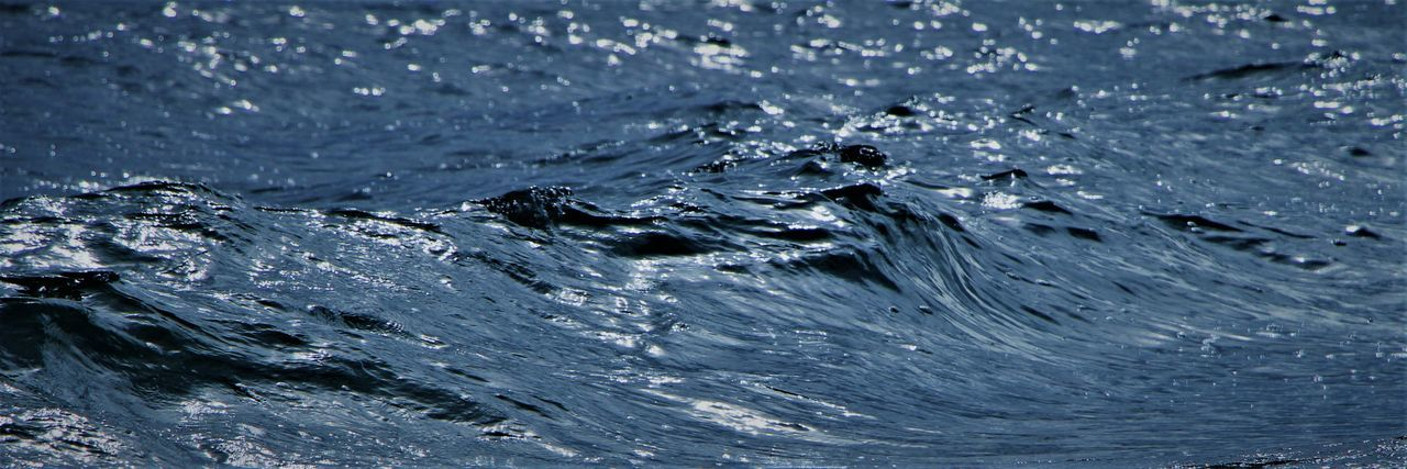 Deep Blue Vancouver Sea. Water Full Frame Motion Nature Backgrounds Splashing No People Rippled Sea Blue Outdoors Drop Close-up Day Beauty In Nature Purity Freshness Wave Waterfront Flowing Water Concentric
