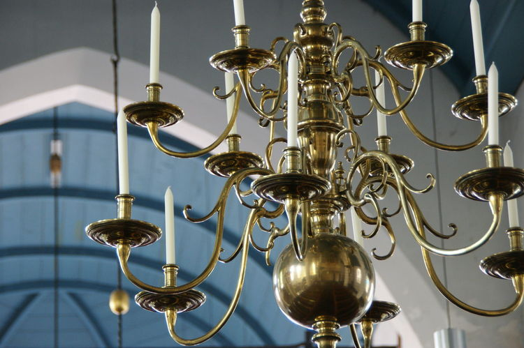 Candles Ceiling Chandelier Church Holland Holy Place Indoors  No People Old Buildings Reflection Vista