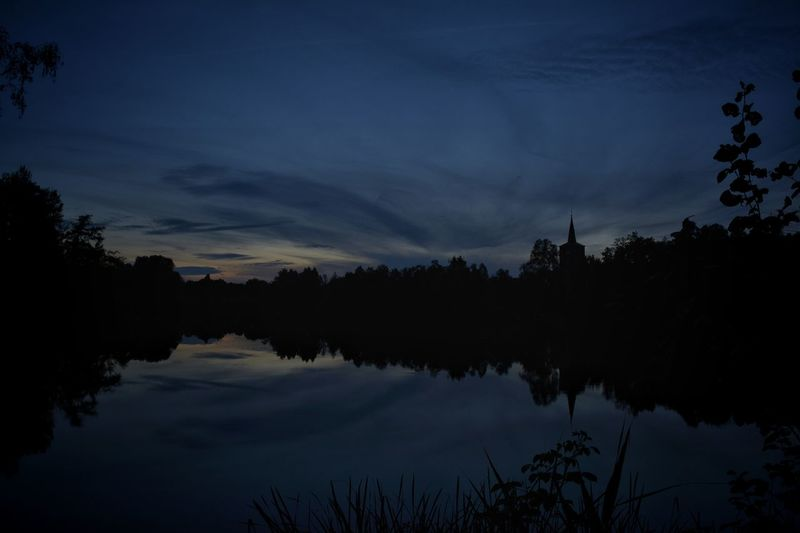 Blue Hour Blaue Stunde Hanging Out Taking Photos Borner See Nikonphotography Nikon D5200 Sky And Clouds Light And Dark Eye4photography  EyeEm Nature Lover Nature Photography Water Reflections