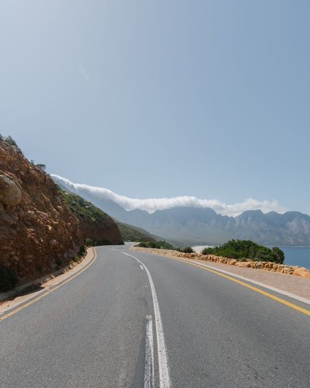 These days EyeEm Best Shots Mountain Cape Town Lifestyles Landscape Beach Summer Road The Way Forward Road Marking Transportation Mountain Outdoors Asphalt Landscape Clear Sky Day No People Nature Scenics Sky Beauty In Nature