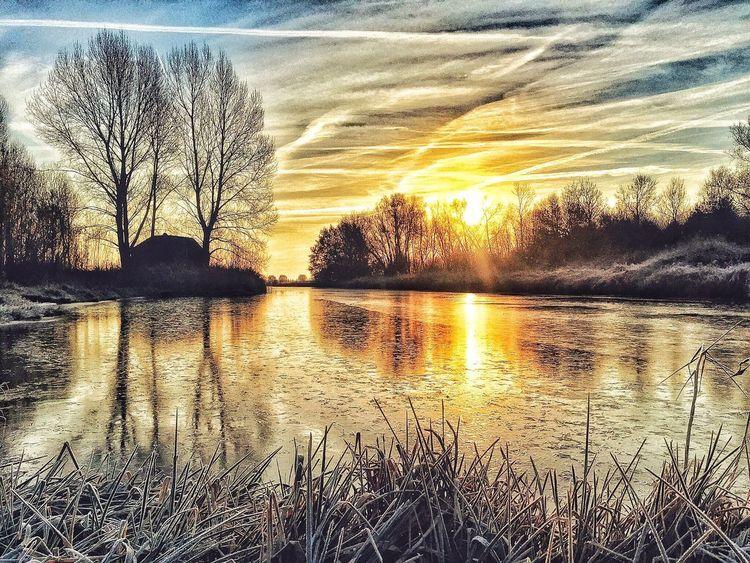 Dutch start of Winter Winter Wonderland Sunset