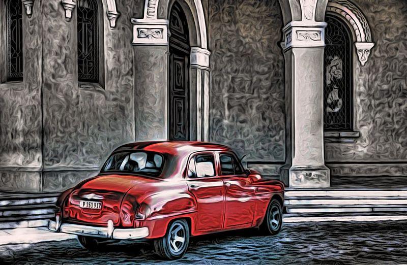 Architecture Cementerio De Cristóbal Colón Colon Cemetery Church Colon Cemetery Cuba Cuba Havana Havana Havana, Uba Vedado Vintage Car