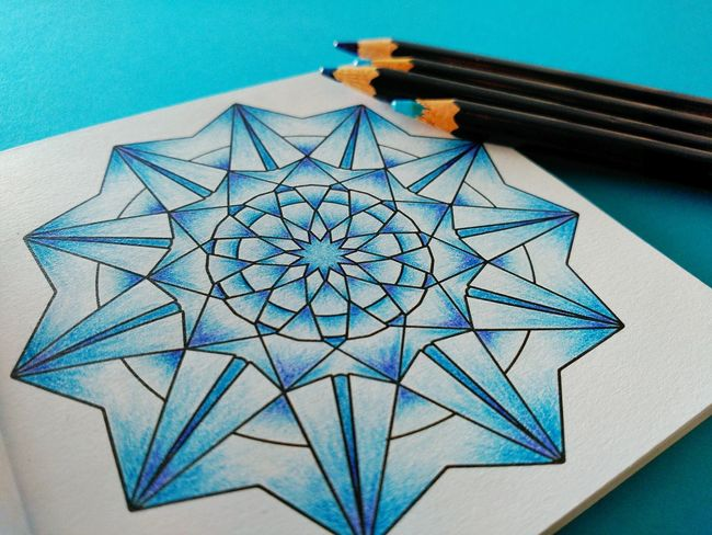 Showcase: January Composition Art, Drawing, Creativity Close-up Pencil Pencils Coloring Coloring Book Coloringpage Coloring Mandalas!  Mandala Geometric Shapes My Hobby Artistic Relaxing Moments Getting Inspired Pastel Power Things I Like Your Design Story