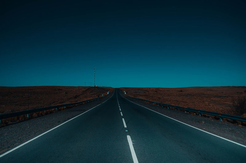 Carretera Astronomy Clear Sky Road Space Blue Sky Landscape