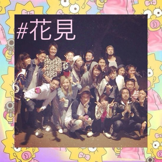 RePicture Friendship 花見 Gayboy Instagram Tokyoboy Tokyo Japanesegay Japanese  Sakura Japan