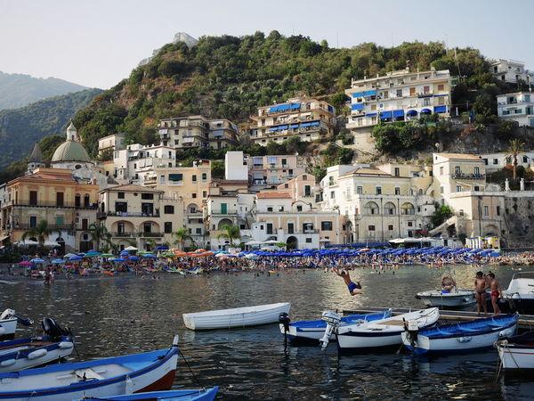 Water Outdoors Day Beach Cityscape People Landscape Italy Summer Amalfi  Built Structure Amalficoast Heatwave Cetara Cetarabeach Streetphotography Harbour
