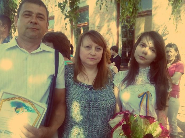 With Parents The Last Day In School SchoolGirl