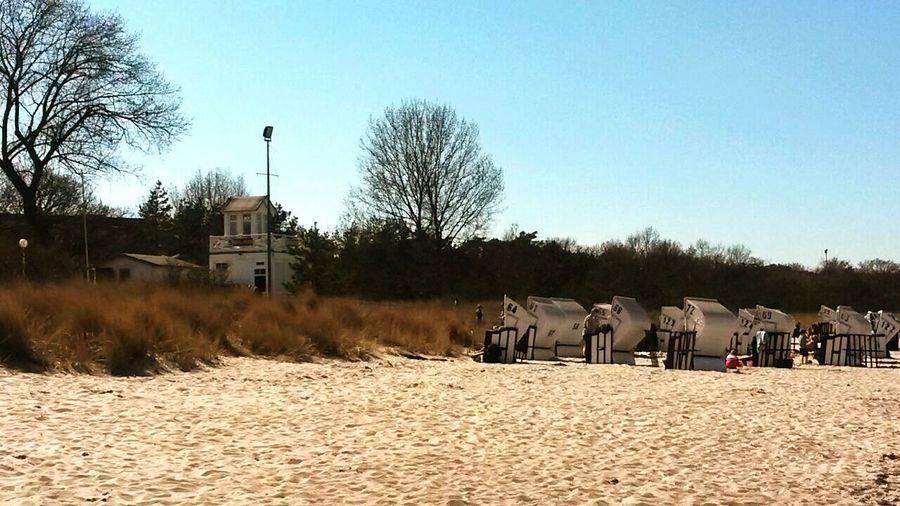 Balticsea Ostsee Strand strandkörbe