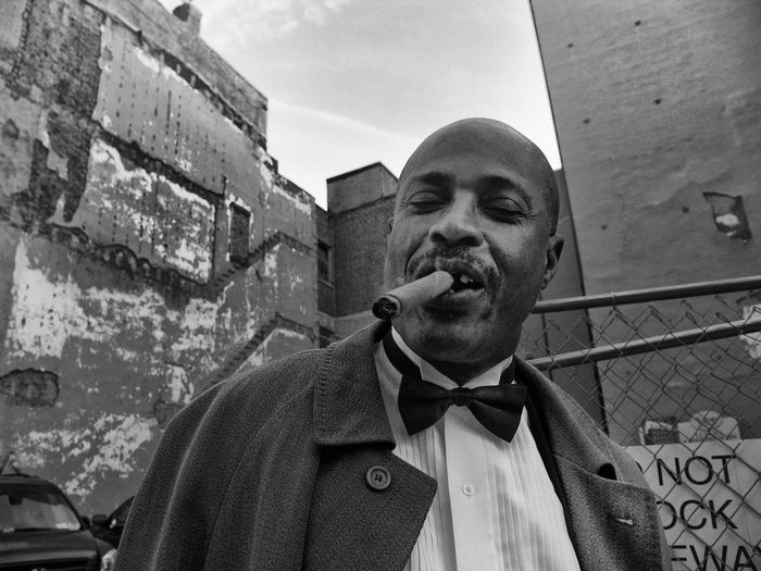 Friendly man with cigar Smoker Black Man Cigar Gentleman  Blackandwhite Photography People Photography Street Photography Portrait Of America Havana Cigars Smoking