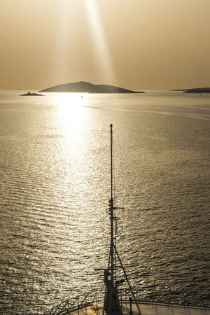 Cruise Ship Sunset_collection Beauty In Nature Horizon Over Water Idyllic Island Nature Scenics Sea Sky Sun Setting Over The Water Sunlight Sunset Tranquil Scene Tranquility View From Ship Water