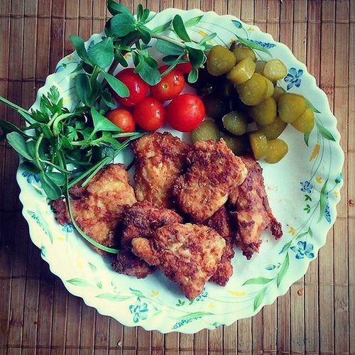 Dinner Kentucky  KFC Street Food Worldwide Food Plate