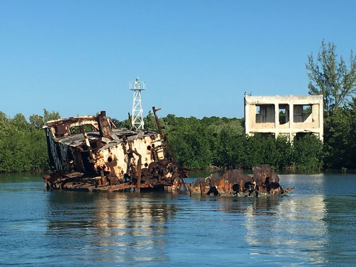 Ruins Ship Wreck Rust Rusty Island Cuba 2015 Cuba Boat Trip