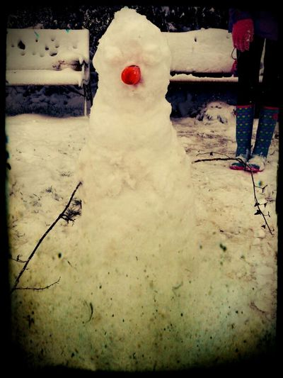 For my late Daughter by her graveside Snowman RIPMaddie