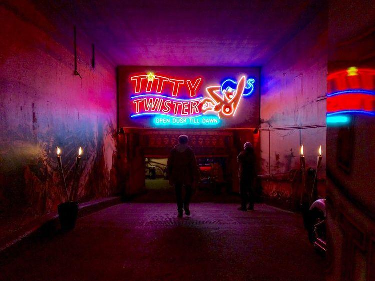 Hamburg Reeperbahn  Nightlife Sign Neon Night Illuminated