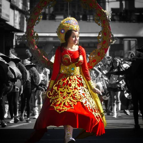 Panagbenga grand street float parade 2018😎 #baguiocity2018 #mybaguiocity #mybaguiostory #eyem #cordillera #philippines #northluzon #baguiocity2018 #mybaguiostory #women #red #streetdance #people #outdoors #group_of_people #fashionstyle #panagbenga2018 #flowers #floatfestival #lumixonly One Person Red Celebration Beautiful Woman Young Women Young Adult Real People Only Women Multi Colored Smiling Outdoors One Woman Only One Young Woman Only Day Adults Only People Adult