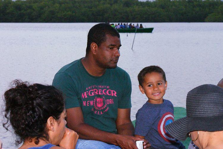 Happy child at the swamp Feel The Journey Trinidad And Tobago Bird Sanctuary Caroni Swamp Boat Ride