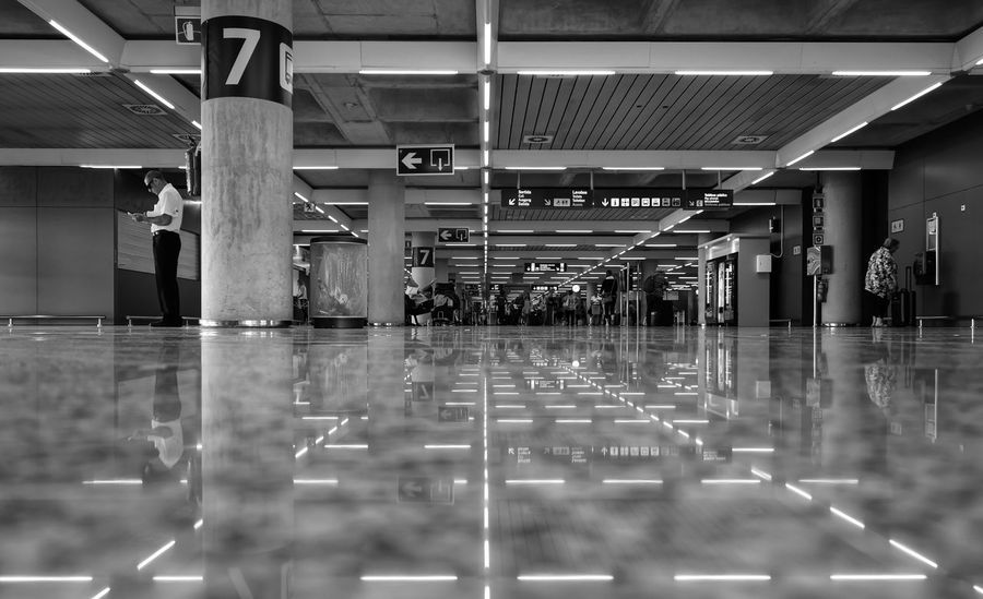 Airport Architectural Column Architecture_bw Architecture_collection City Life Floor Flughafen Fussboden Information Sign Reflection Street Photography Streetphoto_bw Terminal