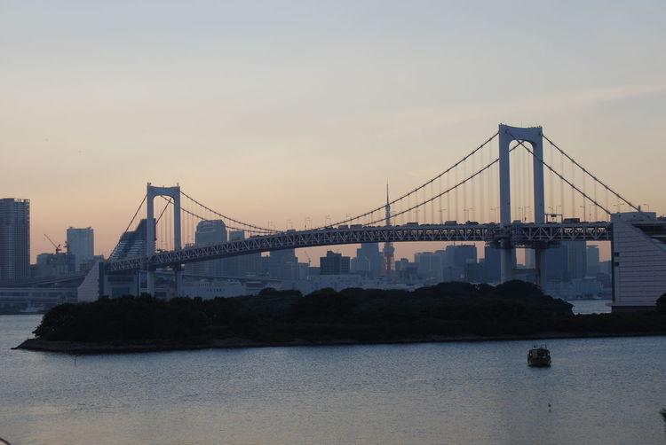 Rainbow Bridge Tokyo Tokyo Bay Tokyo Bridge Architecture Bay Bridge - Man Made Structure Built Structure Water Waterfront