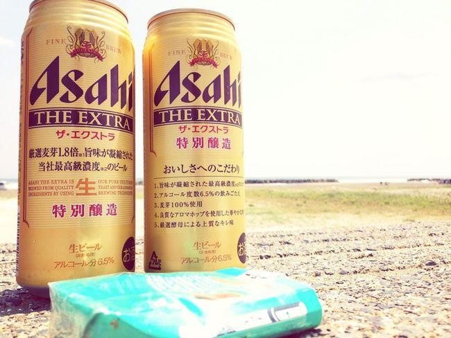 海とビールとタバコ。サイコーな組み合わせ也。