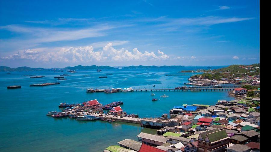 Koh Srichang Koh Koh Srichang Sea Sea And Sky Landscape City Water Nautical Vessel Cityscape Sea Beach Sailing Ship Multi Colored Harbor Blue