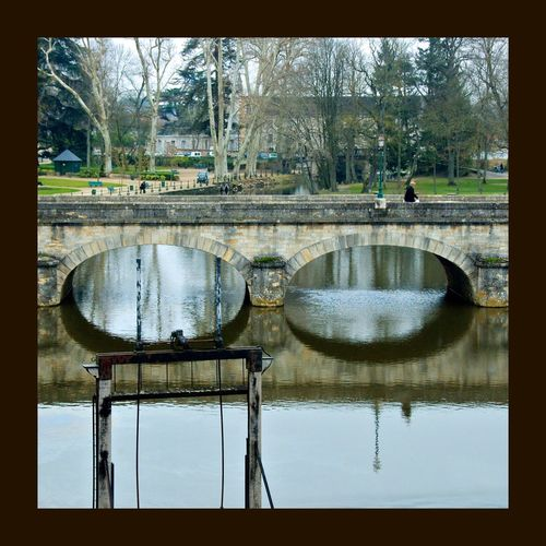 À Romorantin — France — Romorantin River Riviere Pont Bridge Reflexions Water Reflections Water_collection Water