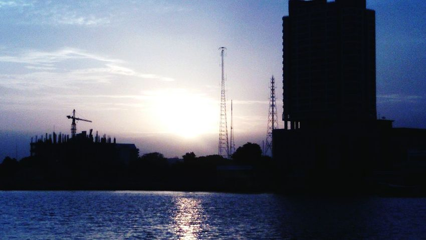 Chao Phaya River sunrise beautiful sky, EyeEm Gallery Taking Photos .
