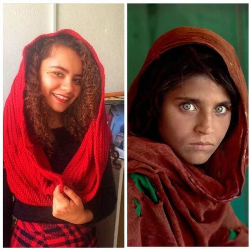 I'm Afghan girl! Afghan Sharbat Gula Red Human Body Part Portrait People Young Women