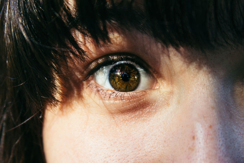 Close-up Closeup Eye Eyeball Eyelash Face Girl Hair Headshot Human Eye Human Face Locks Part Of Portrait Selective Focus