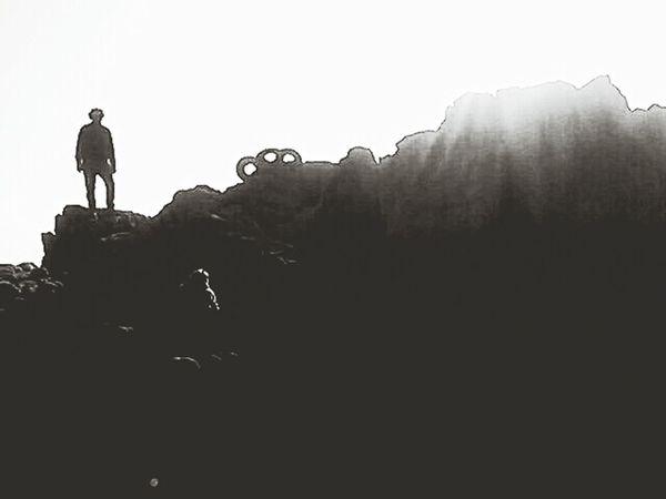 Contraluz Blancoynegro Muntanya Silueta