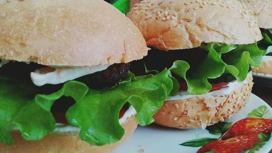 Food And Drink Food Bread Close-up Freshness Indoors  Ready-to-eat No People Fast Food Sandwich Day Cooking At Home Cooked Very Tasty🍴 I Love It ❤ Dinner Time Salad Vegetable Foodphotography