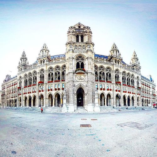 Architecture Travel Destinations Built Structure Building Exterior Sky Outdoors 360 Mostaphamerei Music Österreich Vienna Followme Follow4follow Architecture Wien Rathauswien Rathaus Tinyworld Tiny Planet Theta360 History No People Palace Love